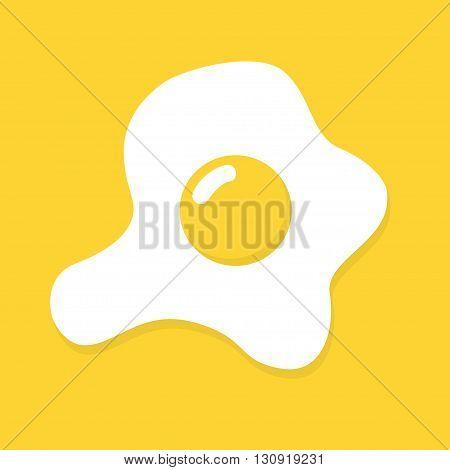 Vector flat omelette egg icon. Scrambled eggs