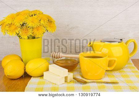 Lemon Tea, Fruit Candy And Honey