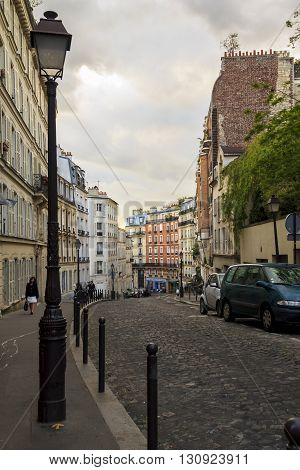 Paris, France - May 13: This is district of Paris - the famous Montmartre May 13, 2013 in Paris, France.