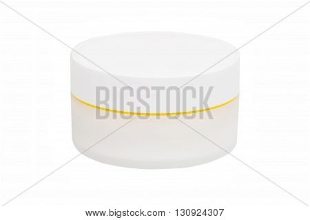 Can with a face cream isolated on white background