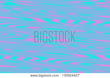 Illustration of pink and cyan blue wooden structure