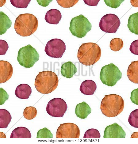 watercolor pattern colored blots on paper drawing