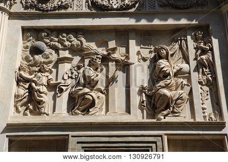 Detail of the marian pilgrimage site of Loreta in Prague