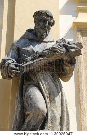 Statue of the marian pilgrimage site of Loreta in Prague