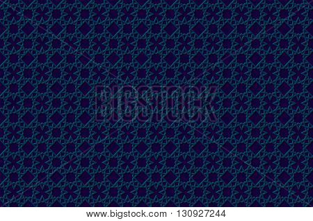 Seamless Symmetrical Abstract Vector Background In Arabian Style Made Of Emboss Geometric Stars With