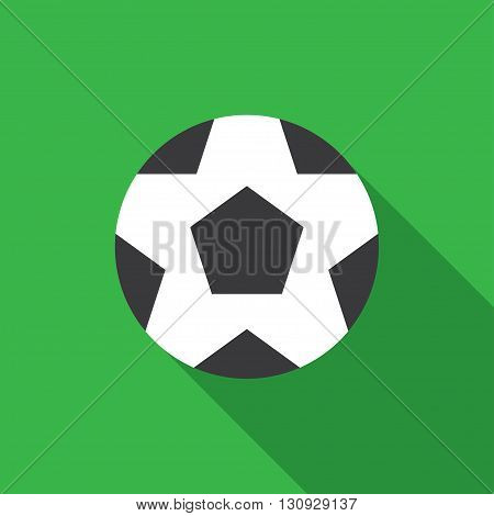soccer ball flat icon. vector illustration. Flat icon isolated with long shadow.