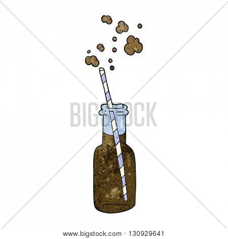 freehand textured cartoon fizzy drink bottle