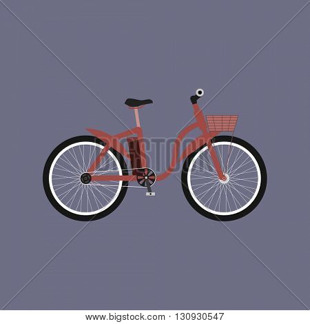Electric bike - e-bike. Bicycle flat design. Electric bike logo. Vector illustration