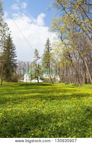 Tula, Russia - Circa May 2016: Park and house of writer Leo Tolstoy in Yasnaya Polyana.