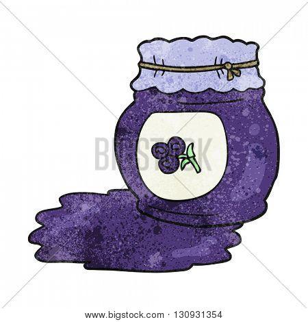freehand textured cartoon blueberry jam