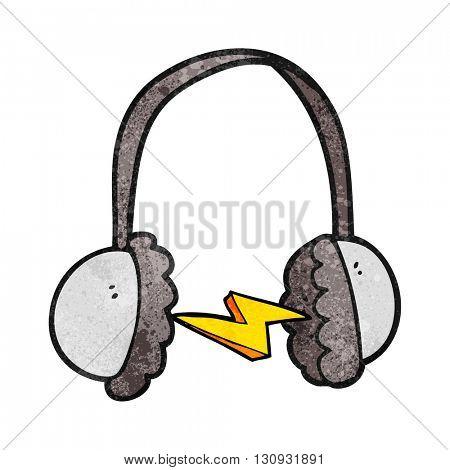 freehand textured cartoon headphones