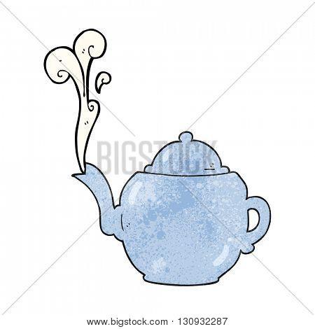 freehand textured cartoon teapot