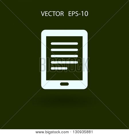 Flat icon of touch pad