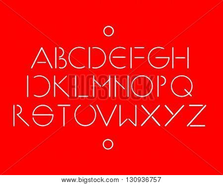 Simple and minimalistic font red color vector