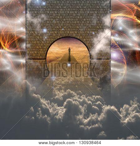 3D Render Spiritual Journey