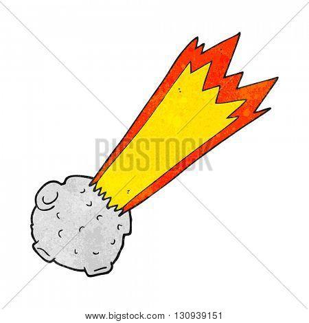freehand textured cartoon meteor
