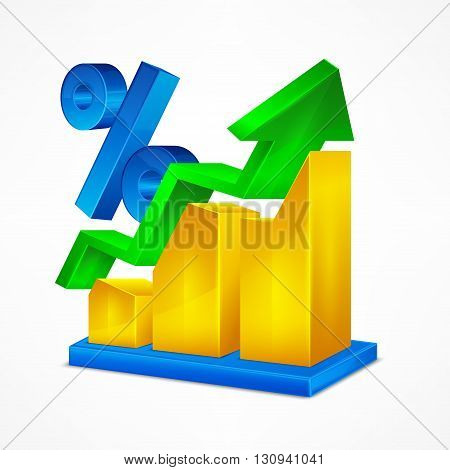 Chart Icon & Percent