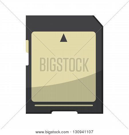 Memory card icon in cartoon style isolated on white background. Storage place symbol