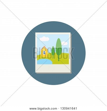 Photo card icon in cartoon style isolated on white background. Photography symbol