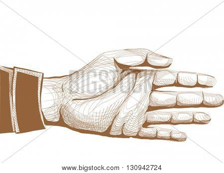 Illustration of an Outstretched Hand