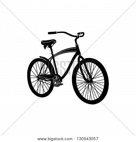 Bicycle icon in simple style isolated on white background. Cycling and walking  symbol