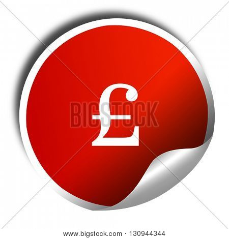 pound sign, 3D rendering, red sticker with white text