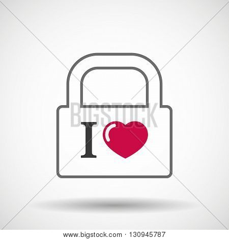 Isolated Lock Pad Icon With  An