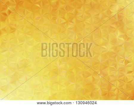 Vector EPS10 gold metal effect with blurred glowing particles. Abstract background with iridescent mesh gradient. Visual illusion of sparkles metal surface. Background for Christmas or party themes