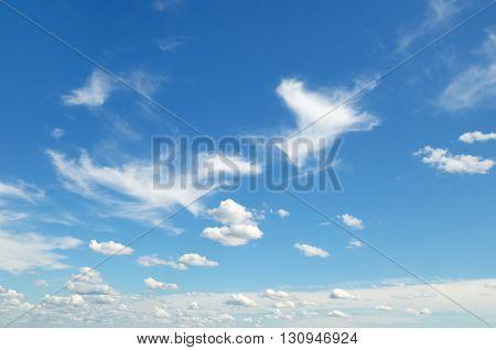 beautiful clouds in blue sky