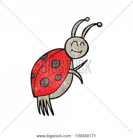 freehand textured cartoon ladybug