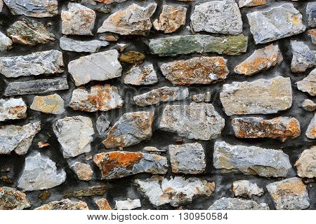closeup of stone wall for background use full frame