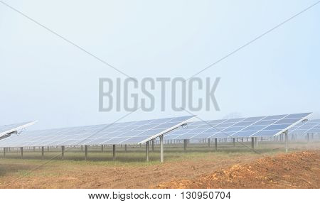MANSFIELD WOODHOUSE ENGLAND - MARCH 13: A solar energy farm currently under construction. In Mansfield Woodhouse Nottinghamshire England. On 13th March 2016.