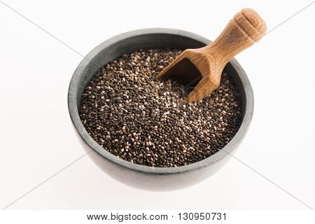 Chia Seeds Isolated On White