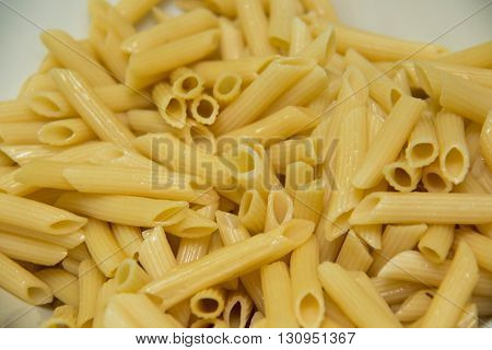 A yellow pasta macaroni noodles meal background