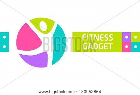 Fitness Gadget. Vector Design Elements For Website Advertising G