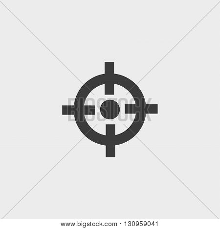 Crosshair icon in a flat design in black color. Vector illustration eps10