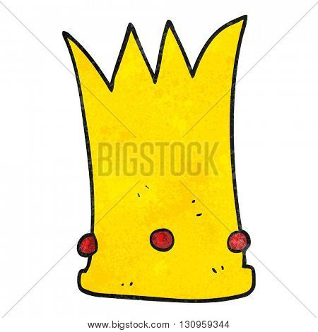 freehand textured cartoon tall crown
