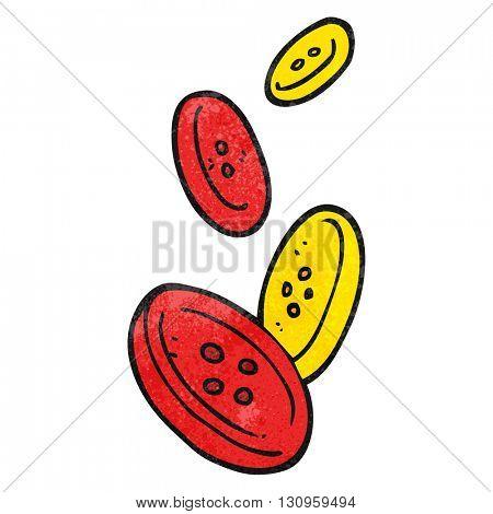 freehand textured cartoon buttons