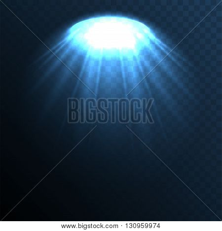 Stage ies lights with smoky effect background. Vector