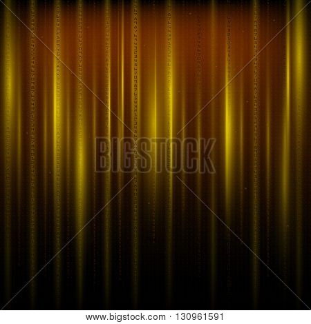 Matrix an abstract background the movement of vertical figures on a gold background.