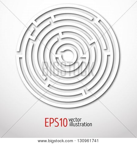 Maze abstract. Circle logic rebus. Illustration eps10