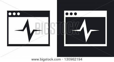Vector diagnostics icon. Two-tone version on black and white background