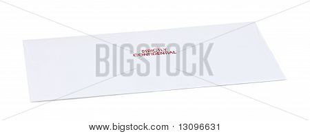 Letter Envelope With Text Isolate On White Background