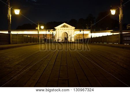 Saint Petersburg Peter and Paul Fortress at night