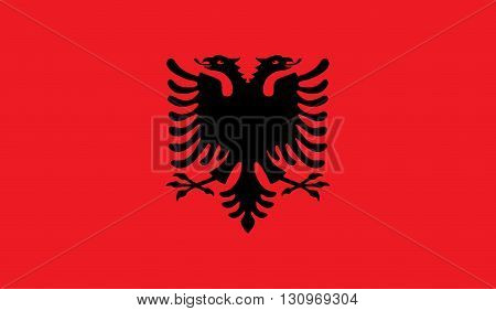 Albania flag image for any design in simple style