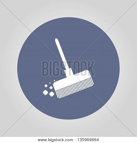 Broom vector icon Flat design style eps 10