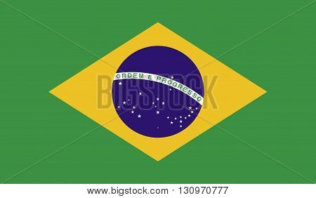 Brazil flag image for any design in simple style