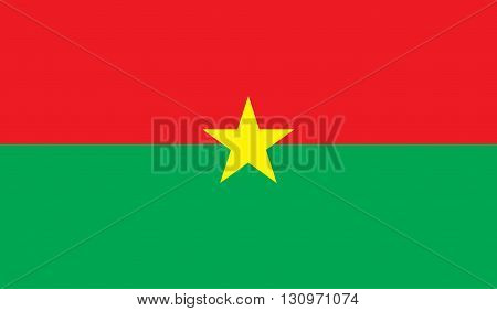 Burkina Faso flag image for any design in simple style