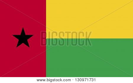 Guinea-Bissau flag image for any design in simple style