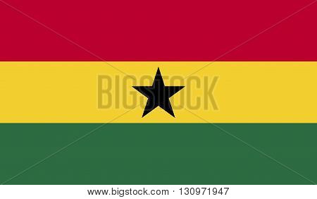Ghana flag image for any design in simple style